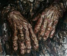 Michael Novokshchennyy Hands of The master/Keith Richards/oil.canvas.100-120sm.2016-2017