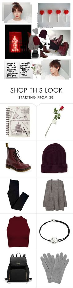 """""""love is red"""" by carterdiaz06 ❤ liked on Polyvore featuring Hanky Panky, Dr. Martens, Aéropostale, J Brand, MANGO, Alex and Ani, L.K.Bennett, kpop, MyStyle and bts"""
