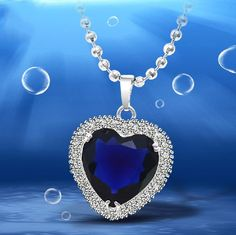 Haiyangzhixin eternal blue crystal necklace for women