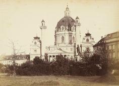 Karlskirche (St. Charles's Church) Vienna, Old Photos, Taj Mahal, Building, Travel, Antique Photos, Voyage, Vintage Photos, Buildings