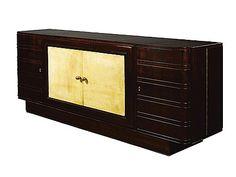 Osvaldo Borsani -Art Deco palisander and parchment sideboard