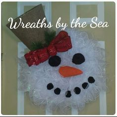 Snowman Wreath by Sarah Laspada. Wreaths by the Sea