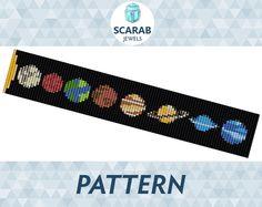 Loom Bead Pattern: Solar System Bracelet / Cuff by ScarabJewels