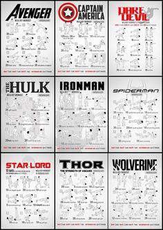 captain america, exercise, and iron man image Gym Workout Chart, Workout Routine For Men, Gym Workout For Beginners, Gym Workout Tips, At Home Workout Plan, Iron Man Workout, Workout Splits, Ab Workout Men, Strength Workout
