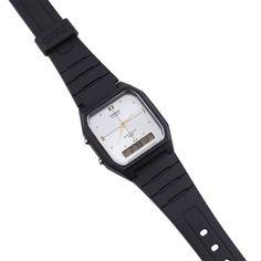 cedc0332ea7 Relógio Casio Vintage Analógico Borracha Prateado • AW-48HE-7AVDF • Laços  de Filó