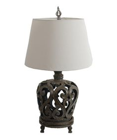 Loving this Scroll Filagree Table Lamp on #zulily! #zulilyfinds