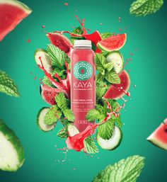 Nicaragua's First Cold-Pressed Juice and Superfood Brand / World Brand & Packaging Design Society Food Graphic Design, Food Poster Design, Creative Poster Design, Ads Creative, Creative Posters, Creative Advertising, Advertising Design, Graphic Design Inspiration, Advertising Ideas