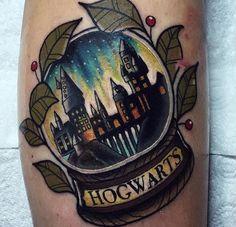Hogwarts crystal ball tattoo