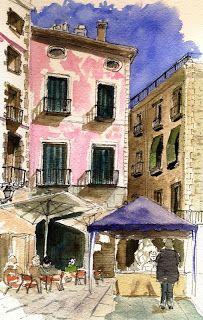 barcelona's sketchcrawl: Mi pequeña aportación.