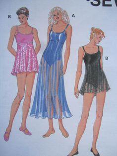 Dance Leotard Sewing Pattern With Attached Skirt/ Kwik Sew Pattern Size XS-S-M-L-XL/empire waist,straps, scoop neckline/Uncut by RedWickerBasket on Etsy Kwik Sew Patterns, Cool Patterns, Lingerie Patterns, Swimsuit Pattern, Costume Patterns, Dance Leotards, Pattern Fashion, Costumes, Lady