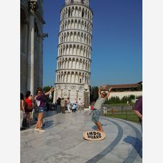 Just for fun! Indo Board Man, Hunter Joslin, and the Leaning Tower of Pisa.