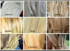 Different shades of blonde