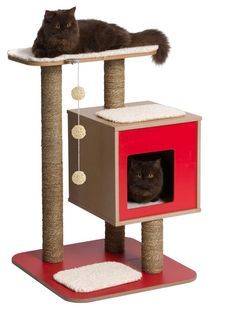 Buy the Hagen Vesper Cat Furniture V Base Red at a fantastic price from our extensive range of cat supplies at The Pet Warehouse Co UK. Vesper Cat Furniture, Pet Furniture, Online Pet Supplies, Cat Supplies, Cat Gym, Diy Cat Tree, Wood Cat, Cat Towers, Pets
