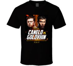 Get this Black Canelo Alvarez VS Gennady Golovkin 2017 Fight Card Poster T Shirt today which is available on a Cotton shirt. The shirt makes a perfect gift for all ages groups Gennady Golovkin, Canelo Alvarez, Athletes, Cards, How To Make, Poster, T Shirt, Supreme T Shirt, Tee