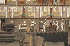 Secció longitudinal del vapor Reina Victòria Eugènia. Camarots, cuines. Primera meitat s. XX. Autor desconegut. 10351 MMB