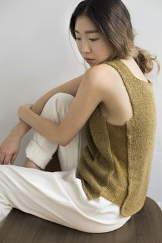 Shibui Knits | Square, knit with Linen + Pebble or Linen + Cima held together throughout.