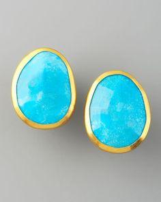 ShopStyle: Gurhan Turquoise Stud Earrings