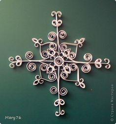 Поделка изделие Новый год Квиллинг Śnieżynki Бумага Клей фото 3