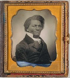 "Frederick Douglass      Born a slave, got his freedom, owned a newspaper for 17 years and fought for abolition.  He lectured before & during the Civil War ""thundering against slavery""."
