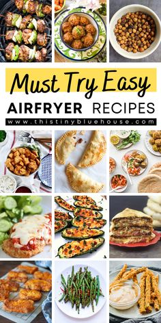 Here are delicious and healthy air fryer recipes that your family will just love. These easy best air fryer recipes are a guaranteed hit! Easy Weeknight Dinners, Quick Easy Meals, Easy Healthy Recipes, Easy Dinner Recipes, Healthy Food, Best Party Appetizers, Air Fryer Healthy, Easy Family Meals, Air Fryer Recipes