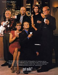 1999 Got milk? ad featuring the Fraser cast