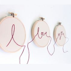 I Love You Hoop Art - Embroidery Experience - Collections
