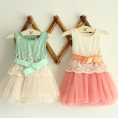 dd290028a New Girls Embroidered Lace Gauze Bow Vest Dress Dresses Girl Prom Dresses  Summer Princess Dress