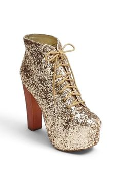 Sparkle! Jeffrey Campbell Bootie but they also have it at Steve Madden . The shoes name is cirkus I think !!!!