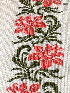 Cross Stitch Boarders, Cross Stitch Rose, Cross Stitch Flowers, Cross Stitch Embroidery, Cross Stitch Patterns, Crochet Basket Pattern, Baby Knitting Patterns, Diy Crafts Hacks, Diy And Crafts