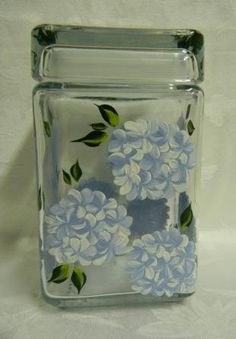 Hydrangea Cookie Jar by Morningglories1 on Etsy, $30.00