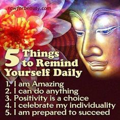 5 Things to Remind Yourself Daily. Change your thinking, change your life!  Want more #positive encouragement on your personal and #spiritual journey?  Click the image to check out our videos on our youtube channel.  If you are local to the #Dayton OH area, come  check us out in person!  If not, look for a Center for Spiritual Living near you, we have 430 around the USA.