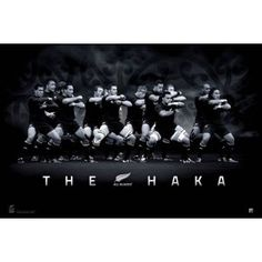 Traditional haka by the Allblacks