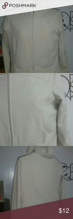 Small nike hooded light zip up Good material for rain. Nike zip up with hood. Small and runs kinda small. Excellent condition . Gonna post as an xsmall. nike Jackets & Coats