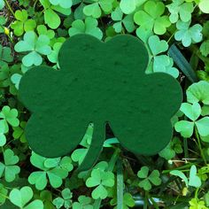 """Shamrock Celtic Plantable Seed Paper Shape - 3"""" X 2.5"""" Size, 39 Colors Available. Daisy Giggles"""