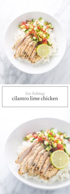 Another five ingredient recipe, this Low Fodmap Cilantro Lime Chicken is delicious grilled and perfect for easy, weeknight burrito bowls! Also, gluten free, dairy free, paleo and whole30 friendly!