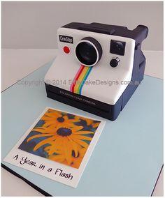 Polaroid Land Camera cake in 3D
