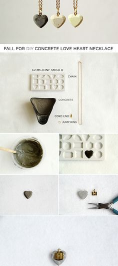 DIY Today Online: DIY Concrete Heart Pendants