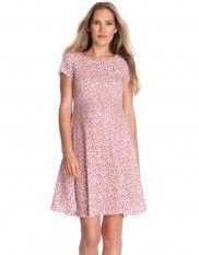 Pink Printed Maternity Dress
