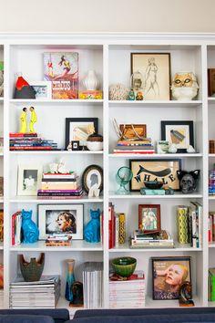 Glamorous West Hollywood Homes Fashion Designer House Beautiful Bookcase Display Design