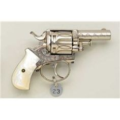 "Beautiful engraved DA revolver marked ""BRITISH BULLDOG"" on top strap, .38 cal., 2-1/4"" barrel, blu"