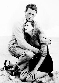 Gregory Peck & Deborah Kerr, fromBeloved Infidel, 1959. Great shot.