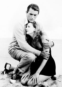 Gregory Peck & Deborah Kerr, from Beloved Infidel, 1959. Great shot.