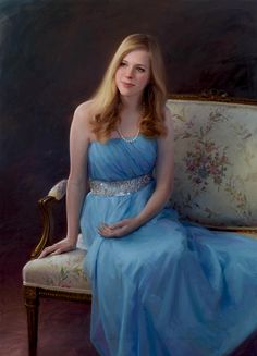 Stunning oil portrait of a young woman by a Portraits, Inc. artist
