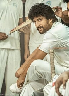 "This time Natural Star Nani released his cricket flick ""Jersey Movie Wallpapers"" with stunning look again. With these latest posters, we can easily. Latest Movies, New Movies, Ab De Villiers Batting, Animated Love Images, Village Photography, Actors Images, Star Cast, Actor Photo, Upcoming Films"