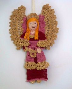 crochet guardian angel decoration or angel by AndersonsCreations, $20.00