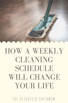 Weekly Cleaning Schedules - Cleaning hacks, cleaning checklist - stay at home mom schedule House Cleaning Checklist, Weekly Cleaning, Deep Cleaning Tips, Household Cleaning Tips, Natural Cleaning Products, Cleaning Hacks, Cleaning Schedules, Laundry Schedule, Natural Cleaning Solutions