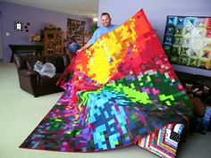 """Exuberant Color: A visitor..............by """"Kevin the Quilter"""""""
