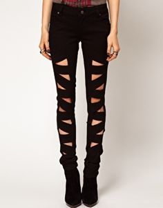 Leather Look Z Cut Skinnies from ASOS. Saved to Bottoms. Shop more products from ASOS on Wanelo. Pink Skinny Jeans, Pink Jeans, Super Skinny Jeans, Leggings Are Not Pants, Jeans Pants, Shorts, Jean Slim Rose, Asos, Designer Clothing