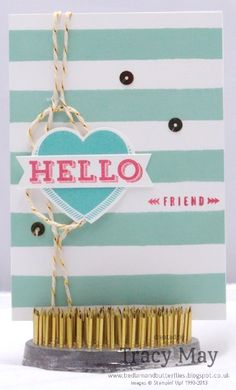 Stampin' Up! UK - Peachy Keen meets Deck chair candy stripes