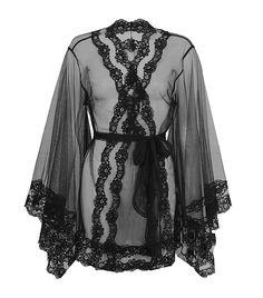 Agent Provocateur Lacy Kimono in Black